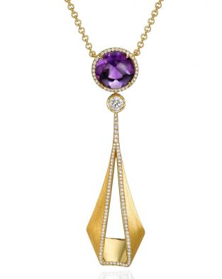 Pliage Amethyst Necklace