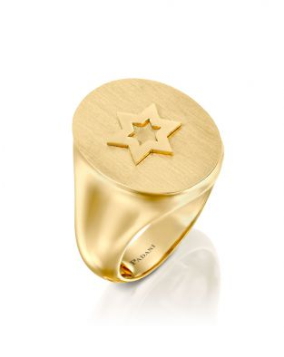 Signet Star Of David Ring