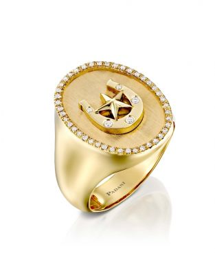 Signet Horseshoe Ring