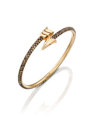 Flow Stiff Bracelet-Brown Diamonds