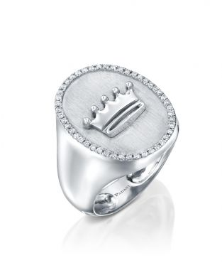 Signet Crown diamonds Ring