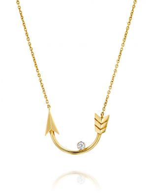 Flow Horseshoe-Shaped Arrow Necklace