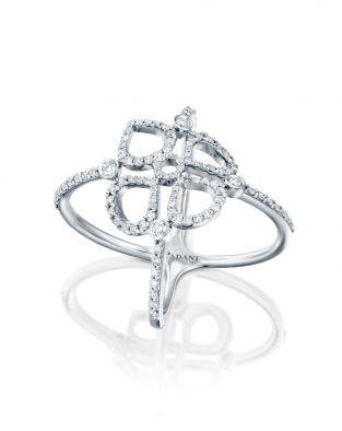 Double Violetto Contour Diamonds Ring