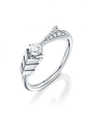 Flow Solitaire Arrow Ring