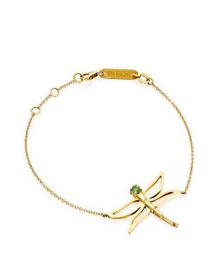 Dragonfly Green Tourmaline Bracelet