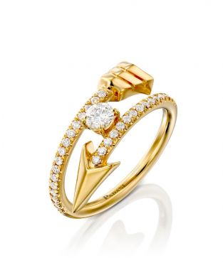 Flow Spiral Solitaire Ring