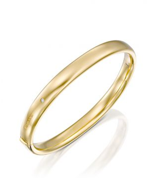 Gold Bangle 7.5 mm