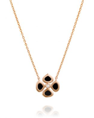 Violetto Black Enamel Necklace