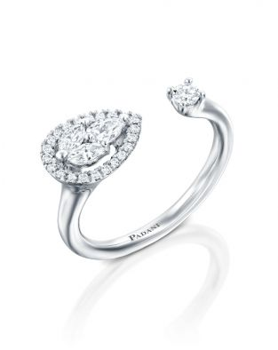 Malvene Across Leaf & Diamond Ring
