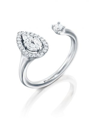 Malvene Leaf & Diamond Ring