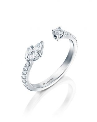 Malvene Single Leaf Ring