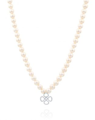 Violetto Contour Pearls Necklace