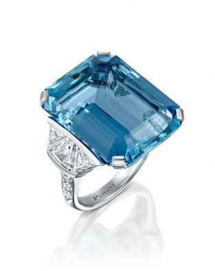 One Of a Kind Aquamarine Ring