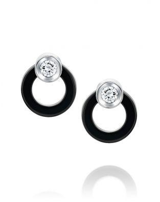 Ceramic Circle Earrings