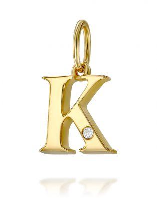 Letter K Mini Pendant