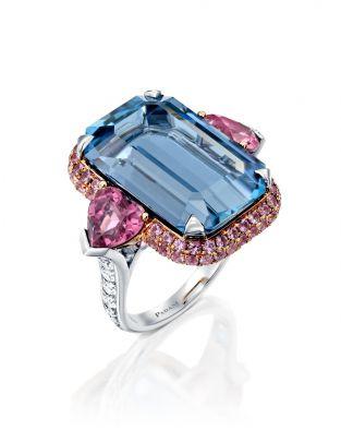 One Of a Kind Aquamarine Diamond Ring