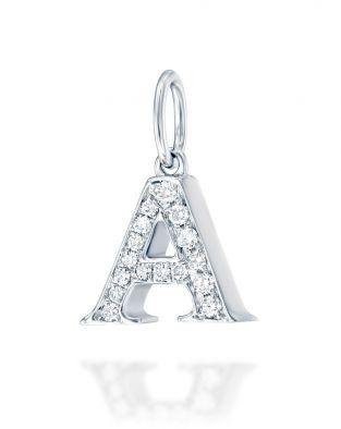 Letter A Diamond Pendant