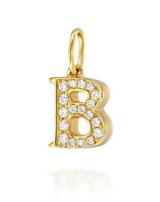 Letter B Diamond Pendant