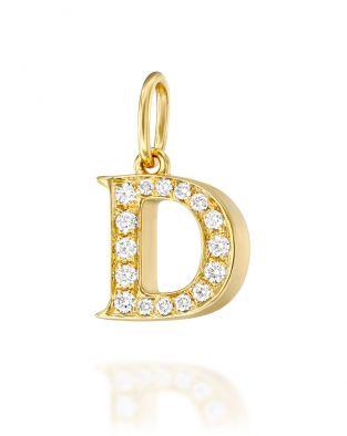 Letter D Diamond Pendant