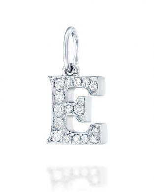 Letter E Diamond Pendant