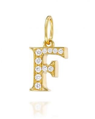 Letter F Diamond Pendant