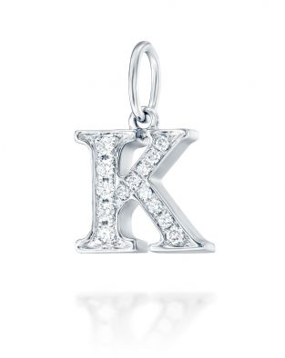 Letter K Diamond Pendant