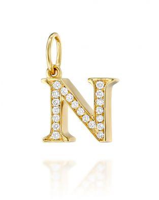 Letter N Diamond Pendant