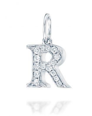 Letter R Diamond Pendant