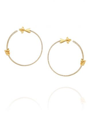 Flow Arrow Hoop Earrings