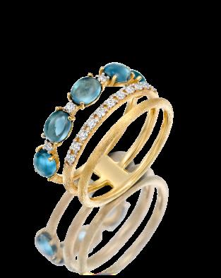 Nanis Blue Topaz Ring