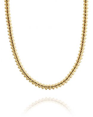 Gold By Padani Disk Necklace