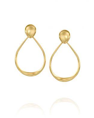 Gold By Padani Oval Hoop Earrings