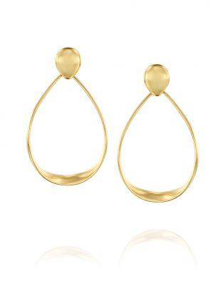Gold By Padani Big Oval Hoop Earrings