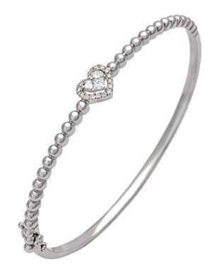 Lady Heart Bangle Bracelet