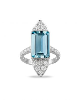 Doves Aquamarine Ring