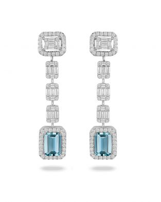 Doves Aquamarine Earrings