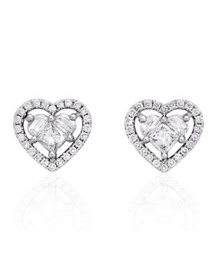 Lady Heart Diamonds Earrings