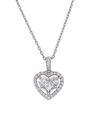Lady Heart Diamonds Pendant