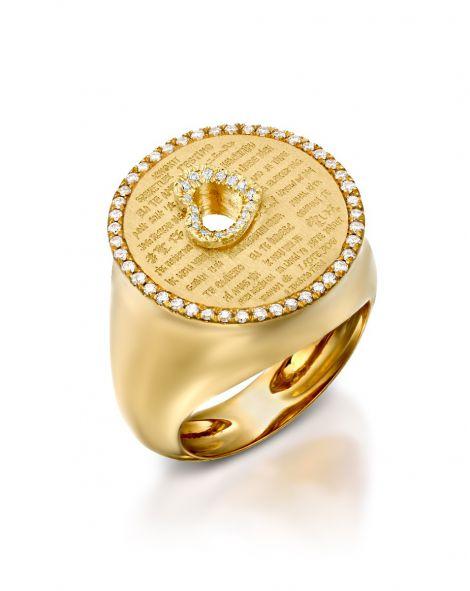 Love Diamonds Heart Ring