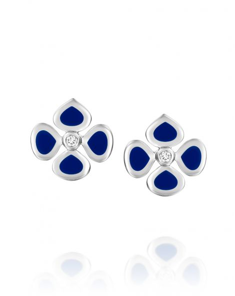 Violetto Blue Enamel Earrings