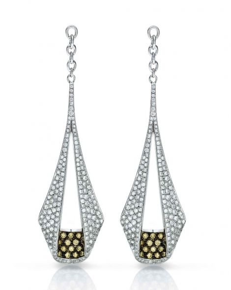 Pliage Diamond Earrings