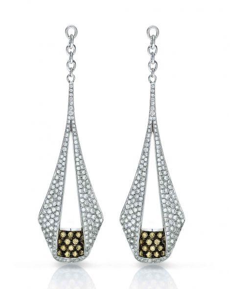 Pliage Diamond Earrings