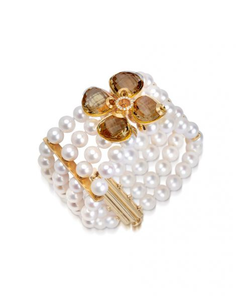 Violetto By Color Pearls Bracelet