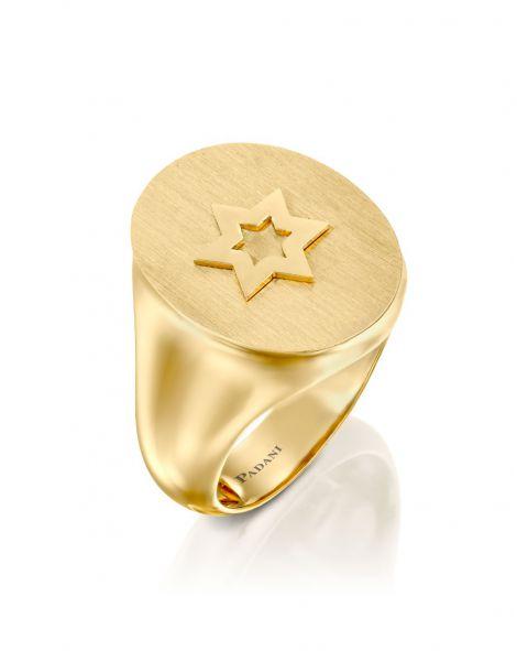Signet Star Of David Ring