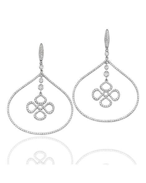 Violetto Teardrop Hoop Earrings