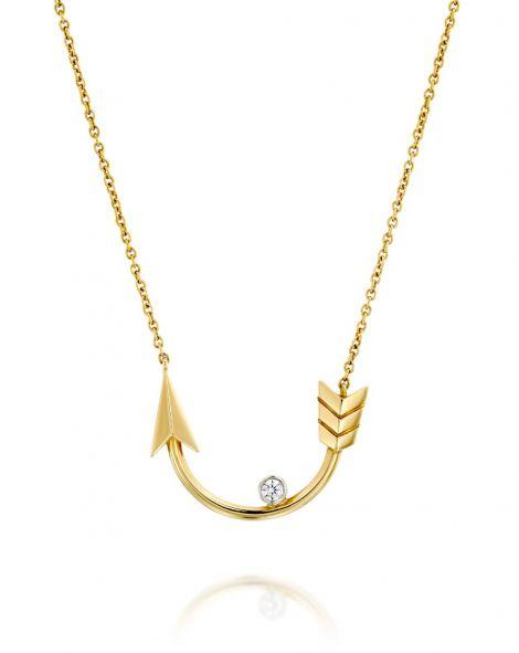 Flow Horseshoe-Shaped Arrow Necklace