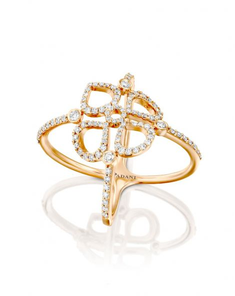 Double Violetto Contour Diamonds Ring