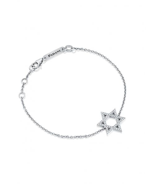 Star Of David Diamonds Bracelet
