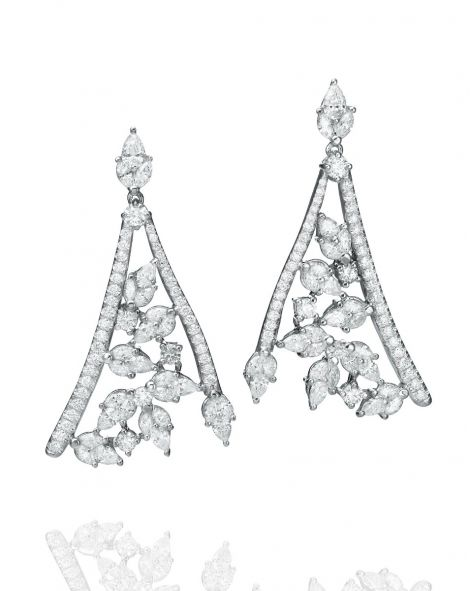 Malvene Chandelier Leaf Earrings