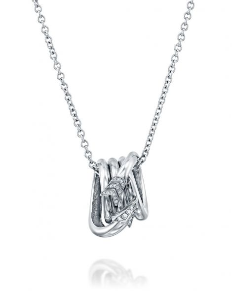 Flow Cylindrical Arow Necklace